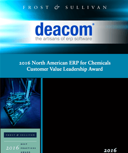 2016 North American ERP for Chemicals Customer Value Leadership Award