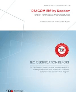 ERP Software Review: DEACOM ERP for Process Manufacturing