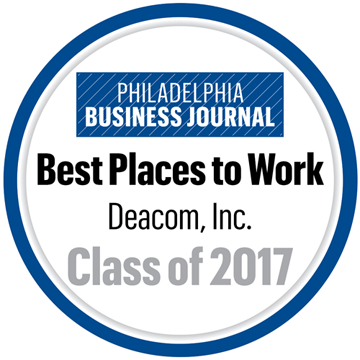 Press Release: Deacom, Inc. Named Best Place to Work in Philadelphia Area