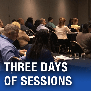 Three days of sessions