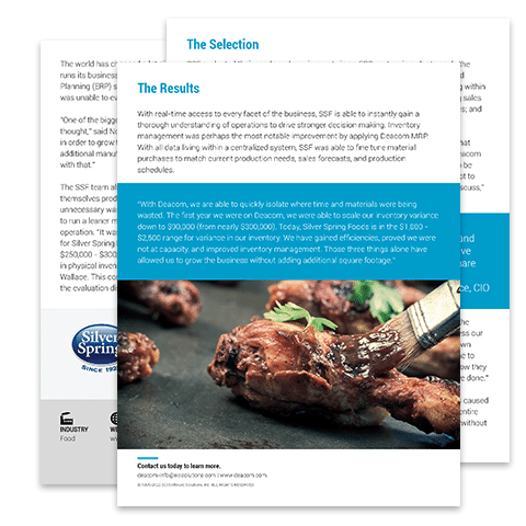 Case Study: Silver Spring Foods
