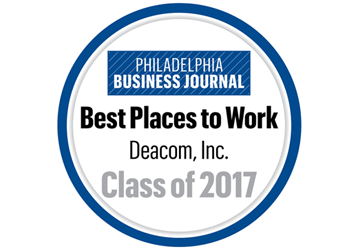 Philadelphia Business Journal recognizes Deacom as a Best Place to Work in Philadelphia