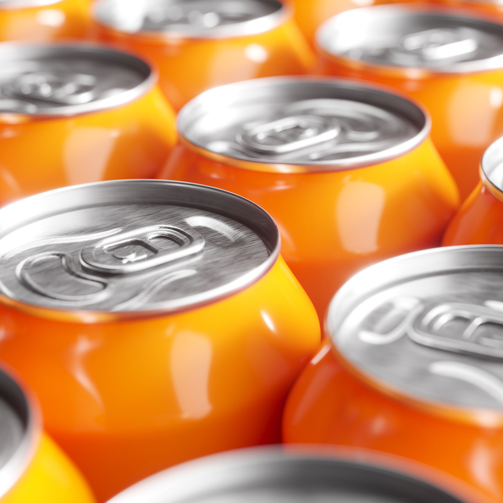 Soda cans processing