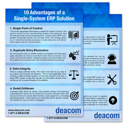 White Paper: 10 Advantages of a Single System ERP Solution